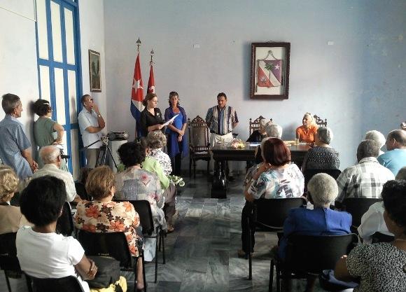 Imagen tomada en la casa-museo Carlos Baliño de Guanajay durante el acto celebrado en conmemoración del día de la mujer. Foto: Javier Montenegro