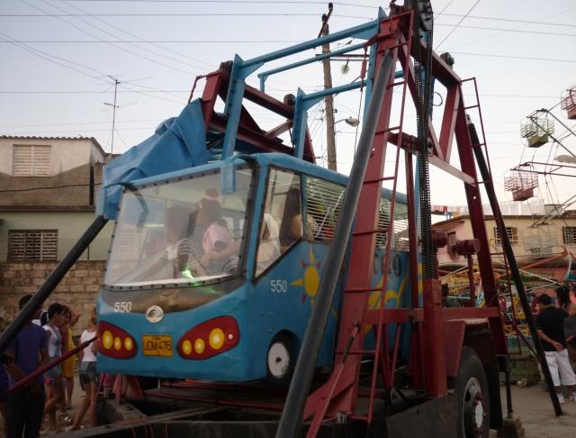 Un autobús astro para los más pequeños. Foto: Javier Montenegro