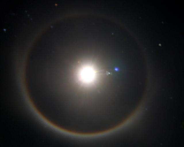 Halo Lunar visto desde Guanajay en la noche del 21 de enero del 2013